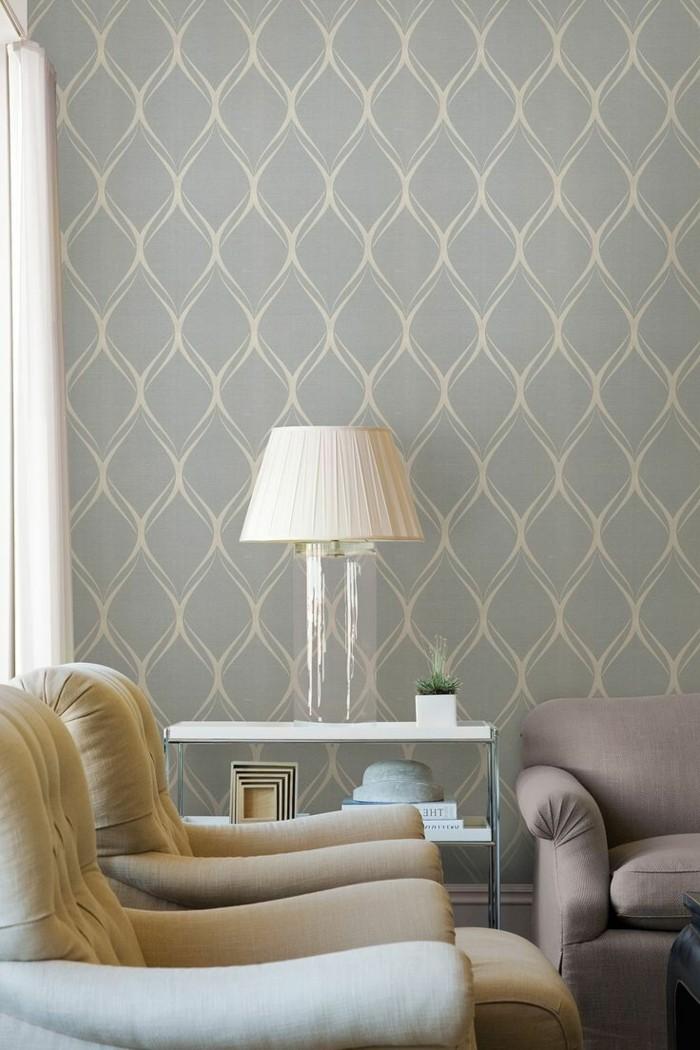 cool-idee-papiers-peints-vintage-décoration-cosy-retro-print-geometrique