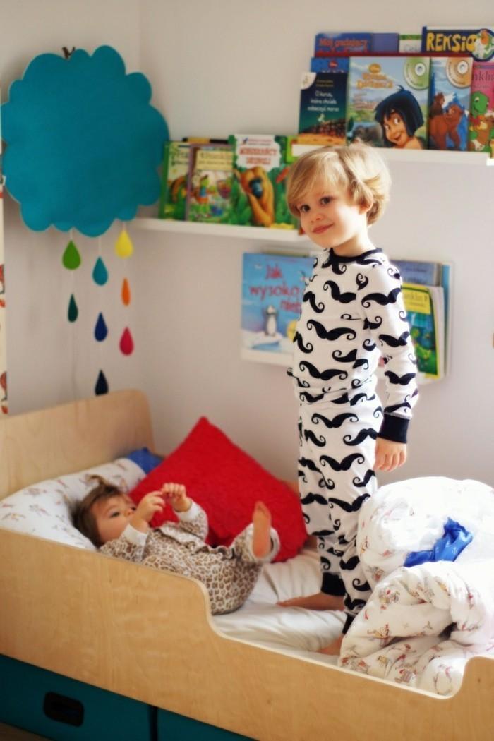 cool-pyjama-bébé-pas-cher-ensemble-bébé-fille-mostache-deux-bebes