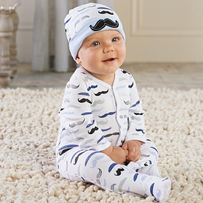 cool-pyjama-bébé-pas-cher-ensemble-bébé-fille-moustashes