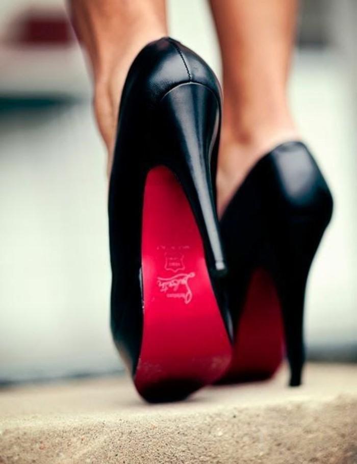 cool-talon-compensé-noir-haut-talon-escarpins-confortables-belles-rouge