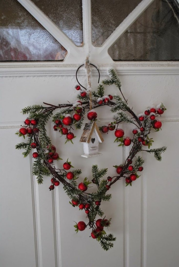 On vous pr sente l couronne de no l dans 43 photos - Idee deco table de noel a faire soi meme ...