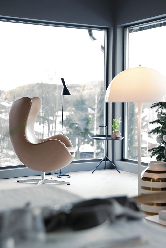 déco-avec-la-lampe-sur-pied-design-moderne-cool-déco-de-noul-lampe-mushroom