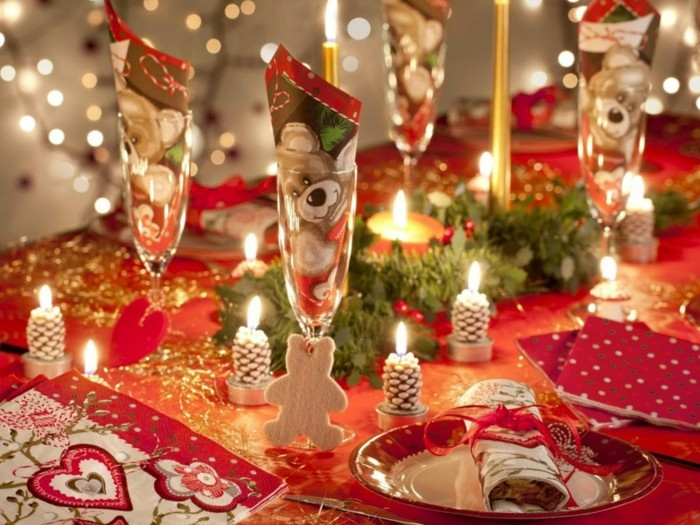 Idee deco table noel deco de table pour noel