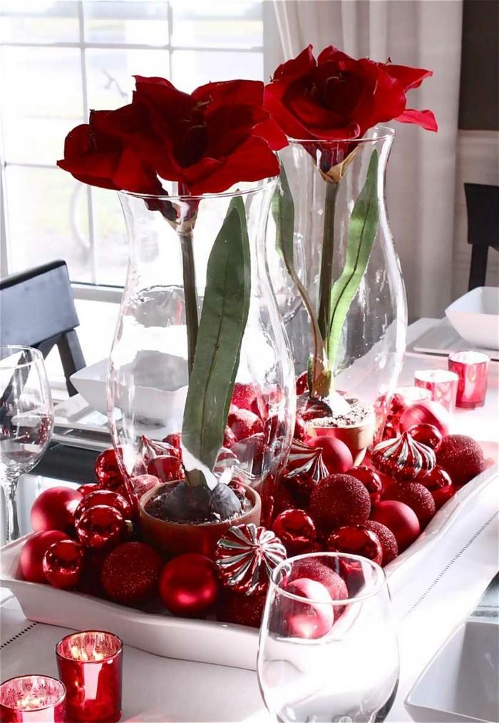déco-en-rouge-et-blanc-noël-belle-décoration-de-noel-à-fabriquer-deco-table-de-noel