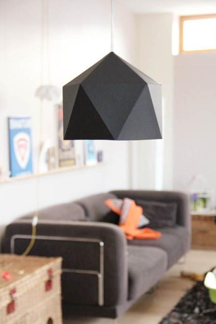 déco-salle-de-séjrour-contemporaine-lampe-sur-pied-design-moderne-cool-lampe-noir