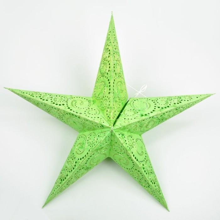 décoration-etoile-de-noel-a-colorier-idee-deco-noel-en-vert