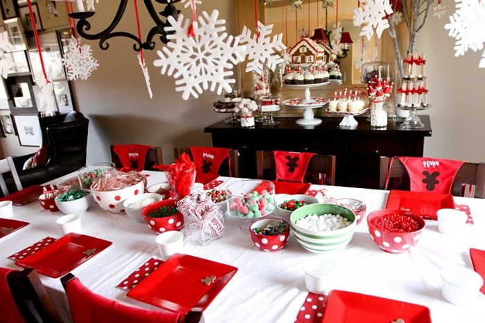 Deco table noel rouge blanc idees accueil design et mobilier - Decoration table de noel rouge et blanc ...