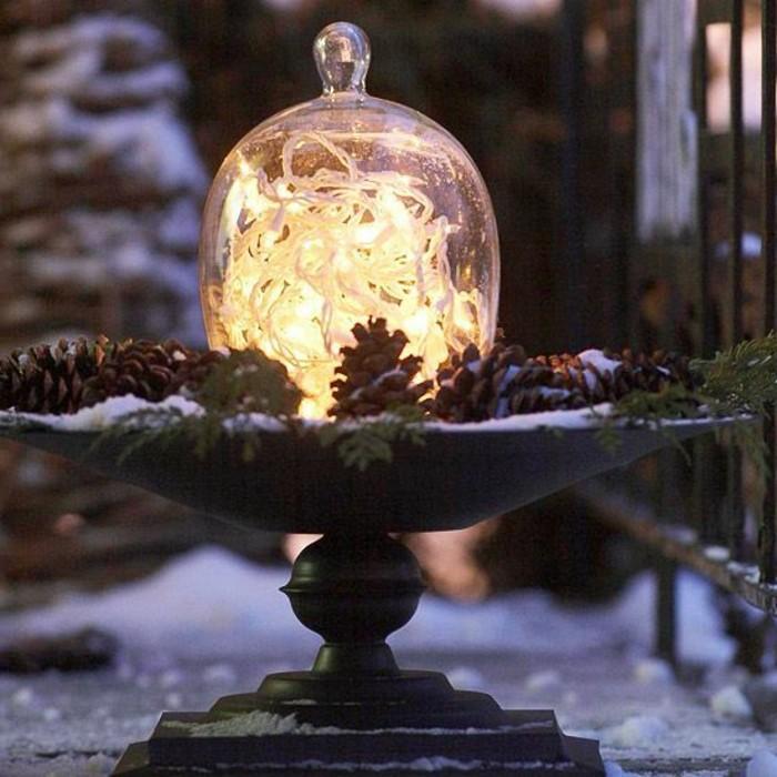 La cloche en verre en 43 belles photos avec beaucoup d 39 id es - Decoration de noel pas chere ...