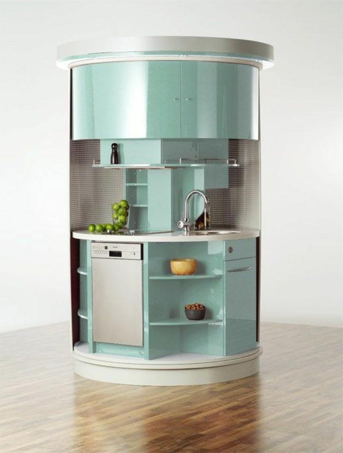 La cuisine arrondie dans 41 photos pleines d 39 id es for Meuble cuisine original
