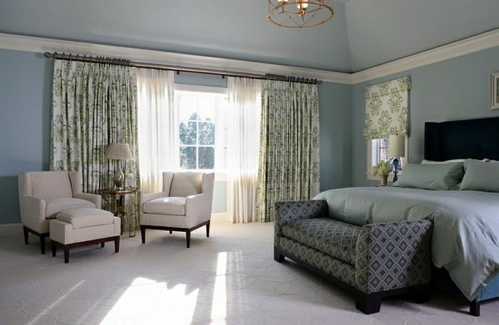 double-rideau-dans-la-salle-de-séjour-cool-vert