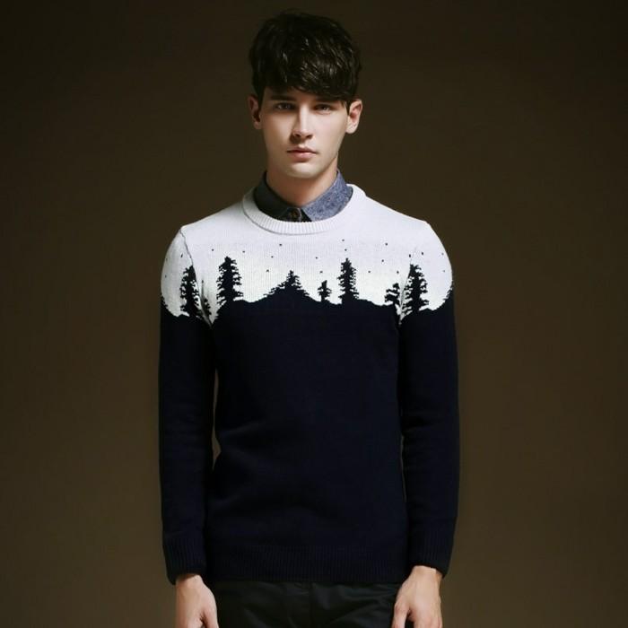 en-hiver-le-pull-jacquard-homme-tenue-blanc-neige-et-noir-montagne-motif-jackard