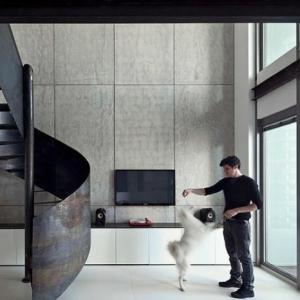 Les beaux designs d' escalier métallique