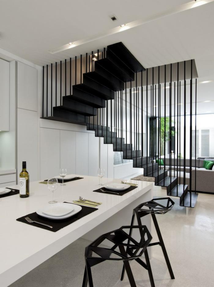 Les beaux designs d 39 escalier m tallique for Rambarde escalier interieur