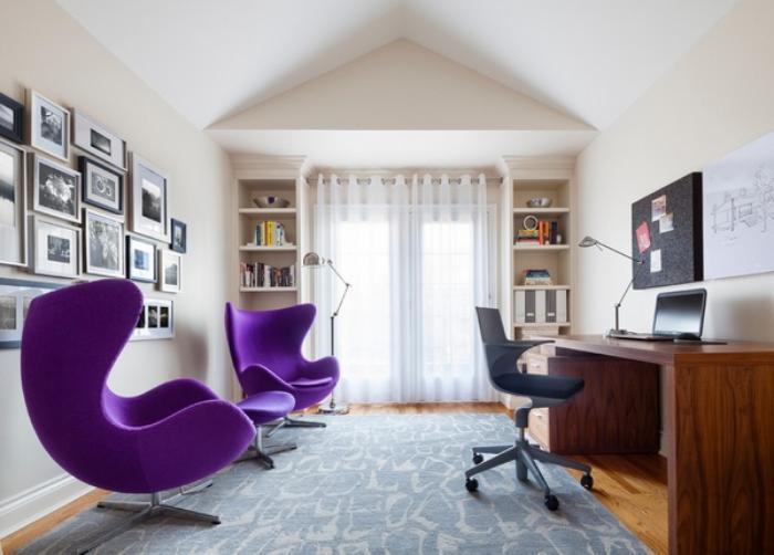 fauteuil-oeuf-mobilier-pour-l'office-à-la-maison