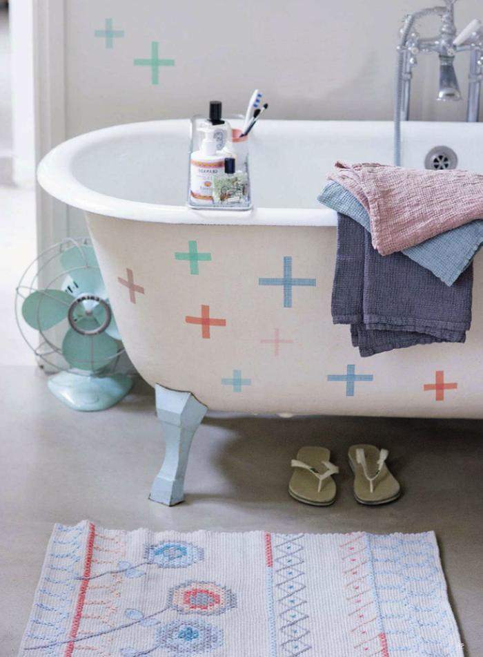 grand-tapis-salle-de-bain-tapis-ikea-belle-idée-paillasson-coloré