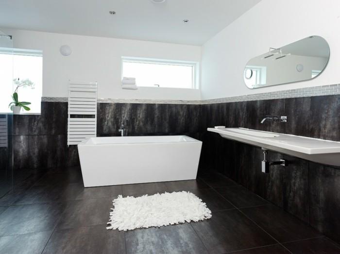 grand-tapis-salle-de-bain-tapis-ikea-belle-idée-paillasson-cool-noir-et-blanc