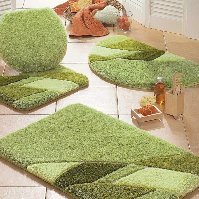 grand-tapis-salle-de-bain-tapis-ikea-belle-idée-paillasson-vert