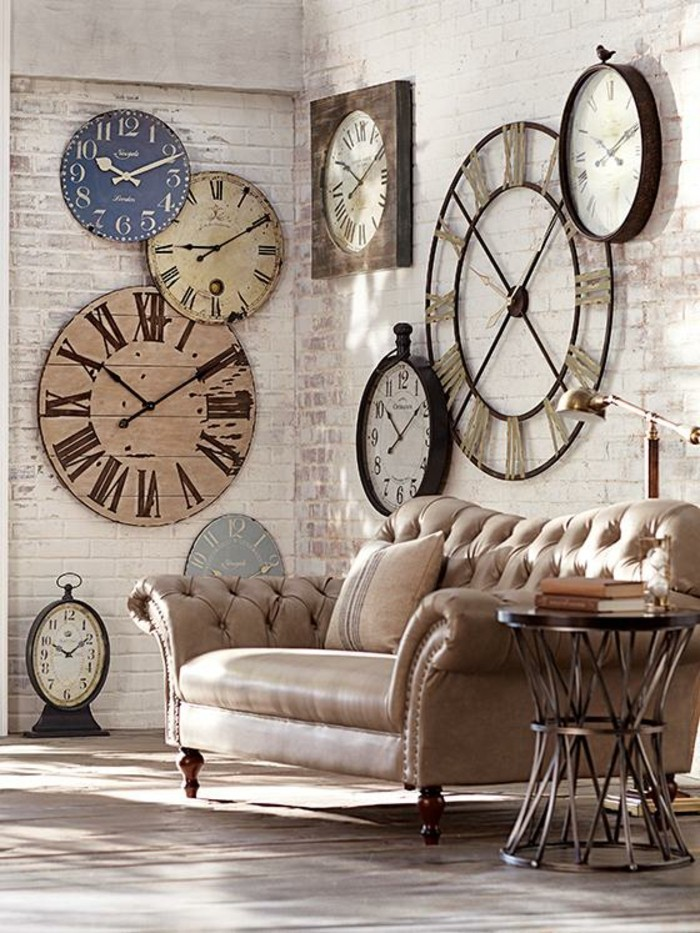 45 id es pour le plus cool horloge g ante murale for Decoration murale industrielle