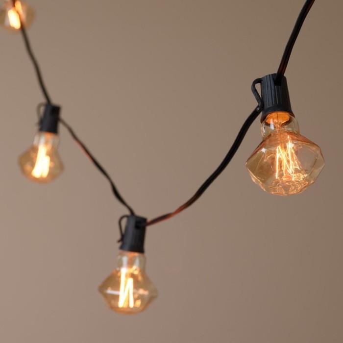 Boule guirlande lumineuse guirlande boule papier - Idee deco guirlande lumineuse ...