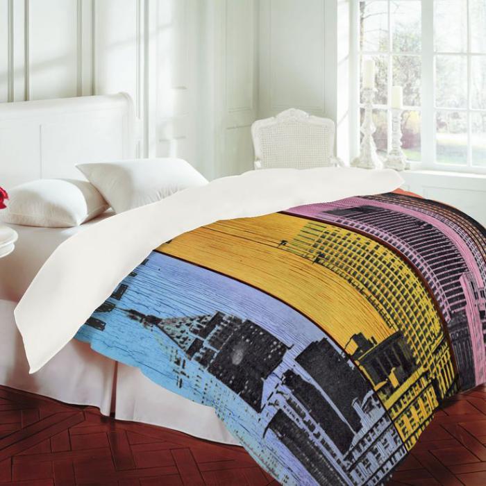 de couette new york, belle chambre à coucher avec parure lit new york