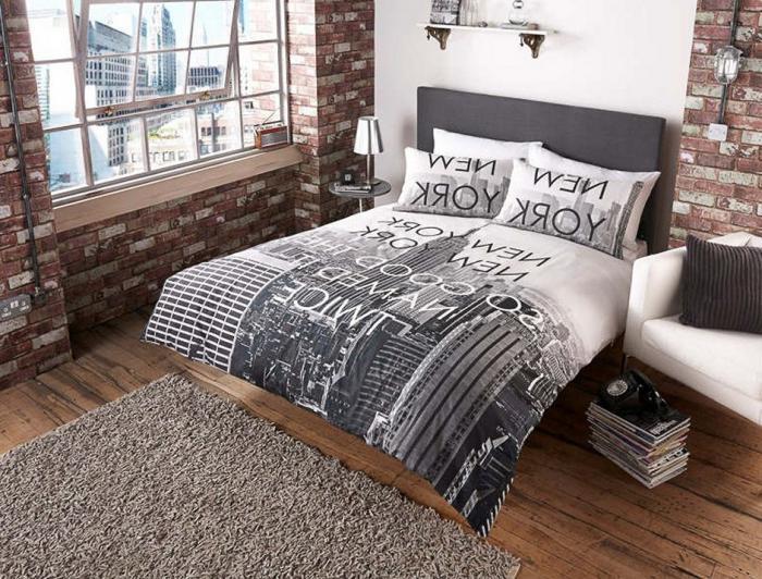 housse-de-couette-new-york-idée-déco-chambre-à-coucher