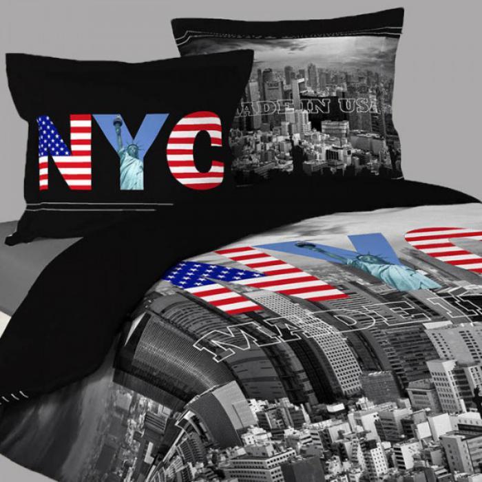 housse-de-couette-new-york-linge-de-lit-à-thème-populaire