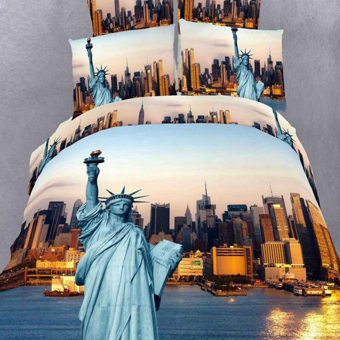 housse-de-couette-new-york-linge-de-lit-statue-de-la-liberté