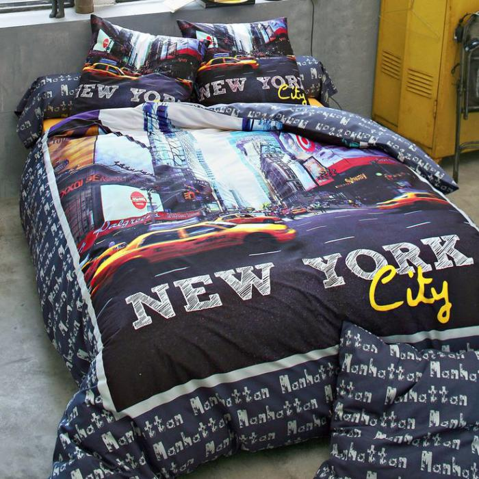housse-de-couette-new-york-symboles-de-la-culture-moderne