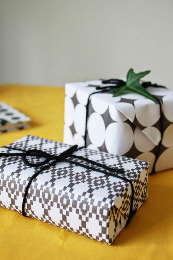 idée-papier-cadeaux-original-papiers-cadeaux-originaux-emballage-cadeau-noir-et-blanc-festive
