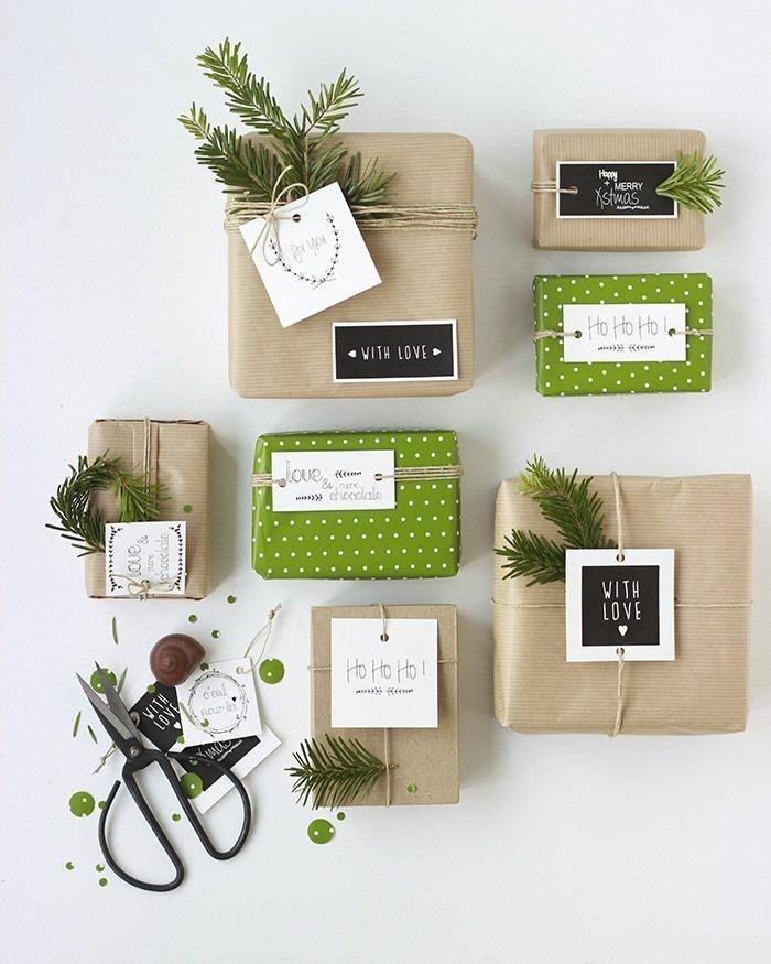 Le papier cadeau original pour offrir les plus beaux - Comment faire une belle table de noel ...