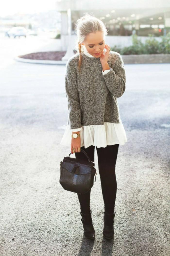 idée-pull-femme-jacquard-tenue-hiver-blanc-chemise-et-pull