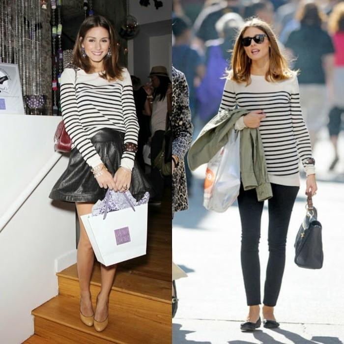 idée-pull-femme-jacquard-tenue-hiver-blanc-et-noir-rayé