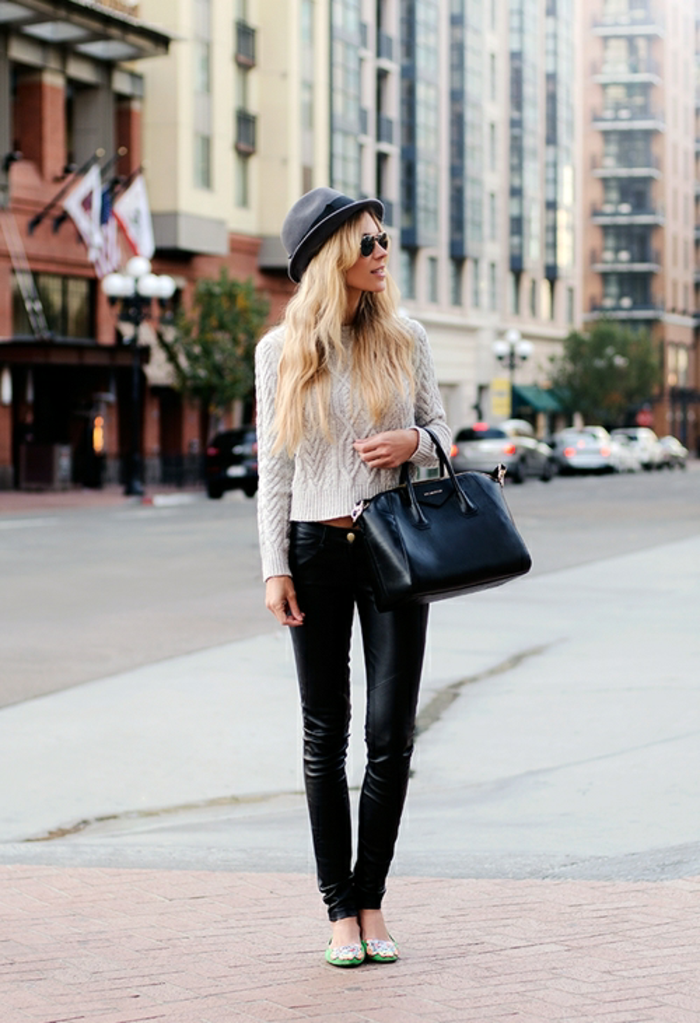idée-pull-femme-jacquard-tenue-hiver-cool-tenue