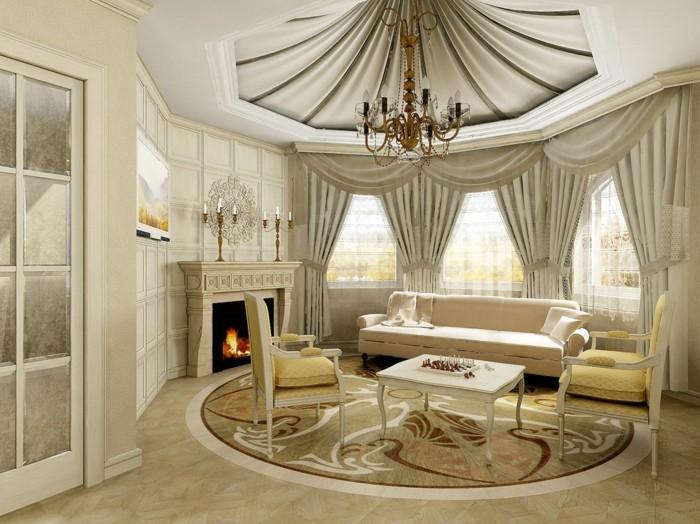 idée-salon-cool-doubles-rideaux-double-rideau-occultant