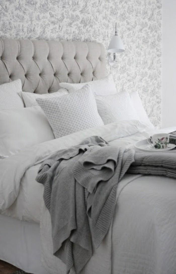 ikea-tete-de-lit-fabriquer-tete-de-lit-captionnée-grise-pour-la-chambre-a-coucher-moderne