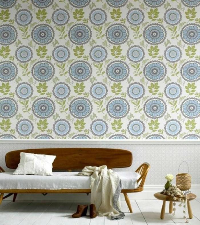 interieur-papier-peint-intissé-papier-peint-chambre-fleurs