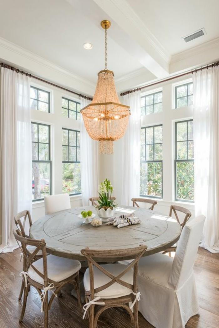 jolie-salle-à-manger-complète-conforama-salle-a-manger-table-ronde-en-bois-sol-en-parquet