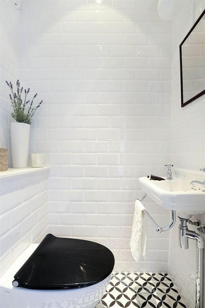 La salle de bain noir et blanc les derni res tendances for Jolie salle de bain