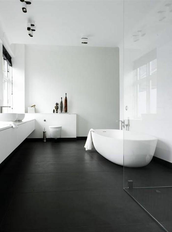 La salle de bain noir et blanc les derni res tendances for Salle de bain annee 50