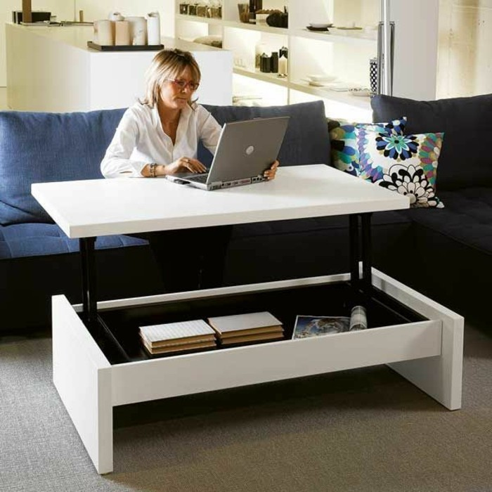 Choisir le meilleur design de la table basse avec rangement for Ikea end tables salon