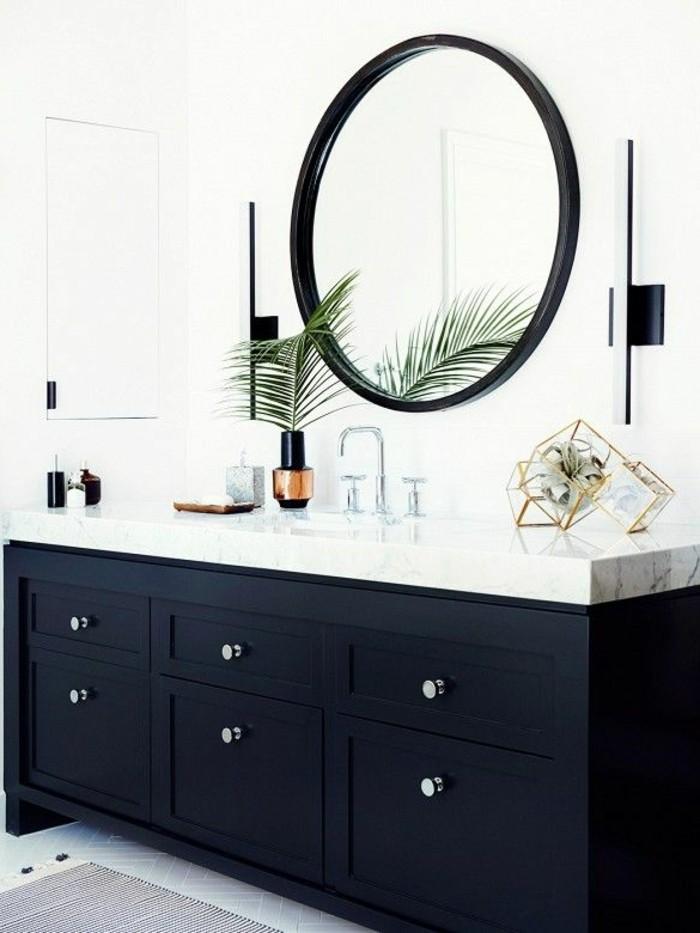La salle de bain noir et blanc les derni res tendances for Meuble de salle de bain noir et blanc