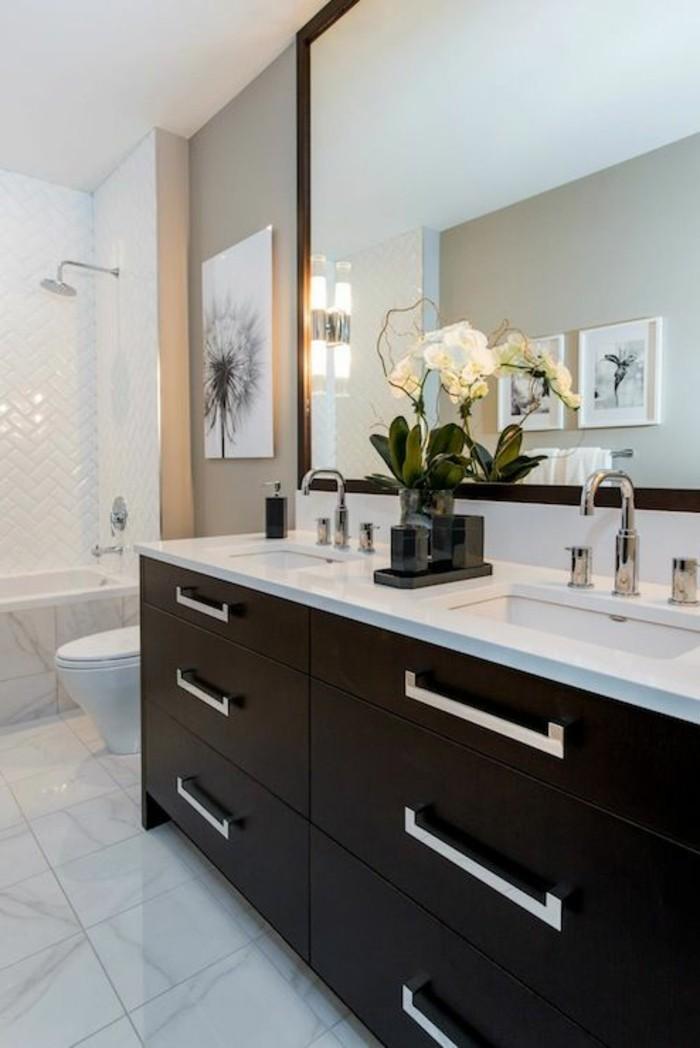 La salle de bain noir et blanc les derni res tendances - Salle de bain en noir et blanc ...