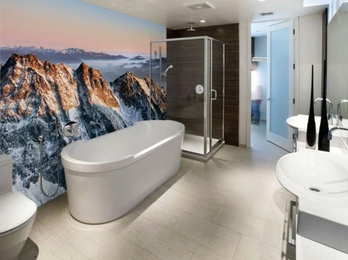Deco moderne 20171012112700 for Tapisserie pour salle de bain