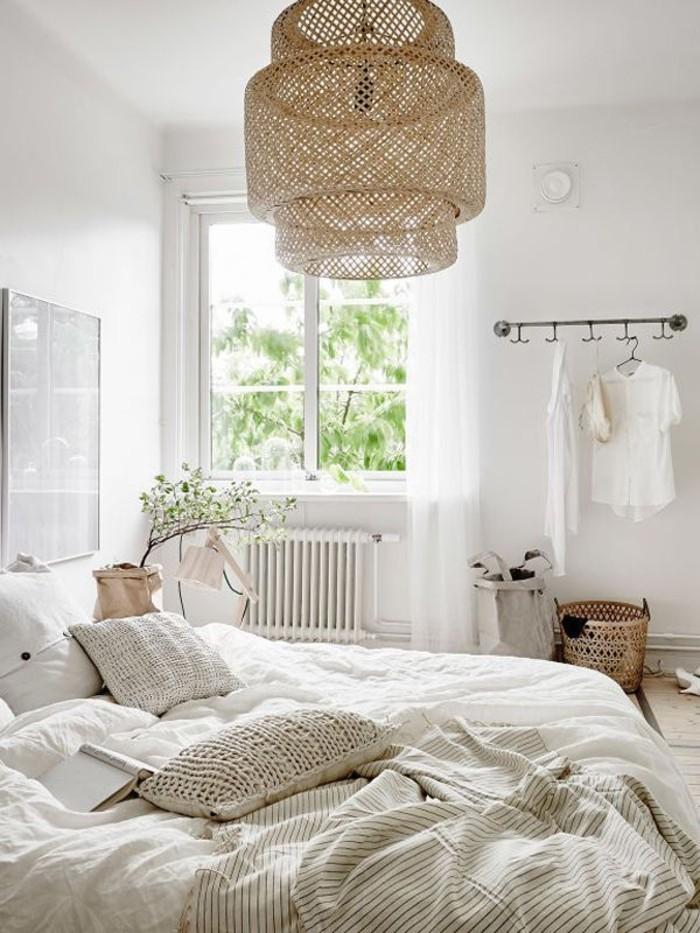 lampe-intérieur-design-la-lampe-de-bureau-design- lit-blanc