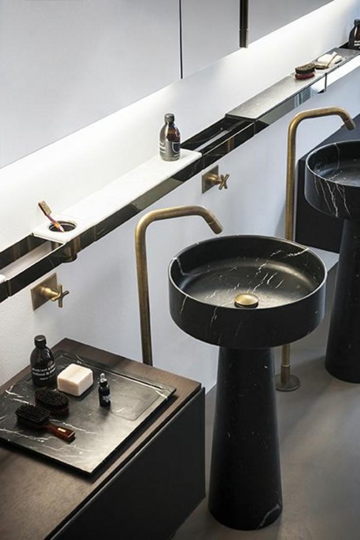 La salle de bain noir et blanc les derni res tendances - Amenager la salle de bain ...