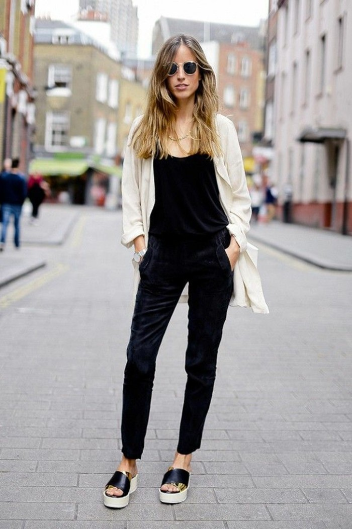 le-gilet-noir-long-femme-gilet-long-laine-femme-chic-tenue