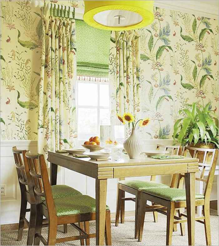 le-papier-beau-peint-vintage-papier-peint-intissé-idee-vintage-cuisine