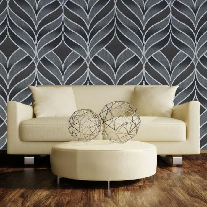 le-papier-peint-vintage-papier-peint-intissé-gris