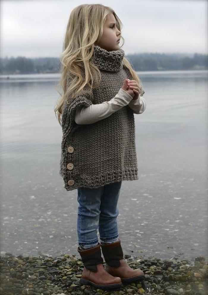 le-pull-jacquard-enfant-pull-Noël-cardigan-fille-belle