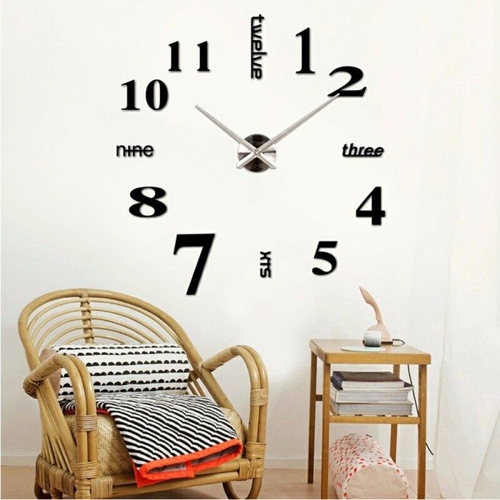 45 id es pour le plus cool horloge g ante murale for Pendule contemporaine